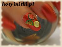owoce na paznokciach