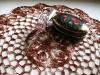 brązowa szydełkowa serwetka